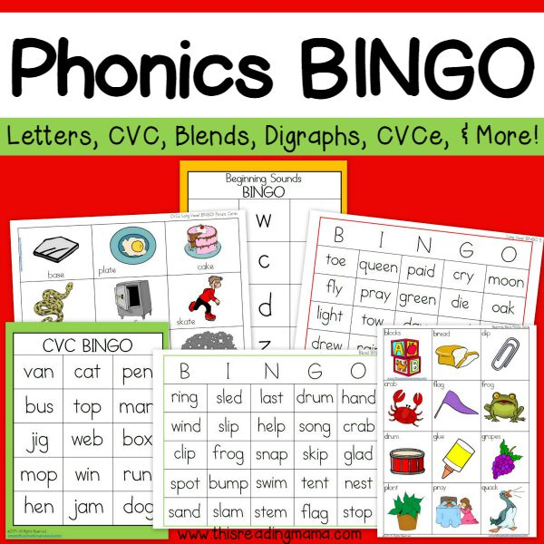 picture relating to Printable Bingo Game Patterns named Phonics Bingo Pack