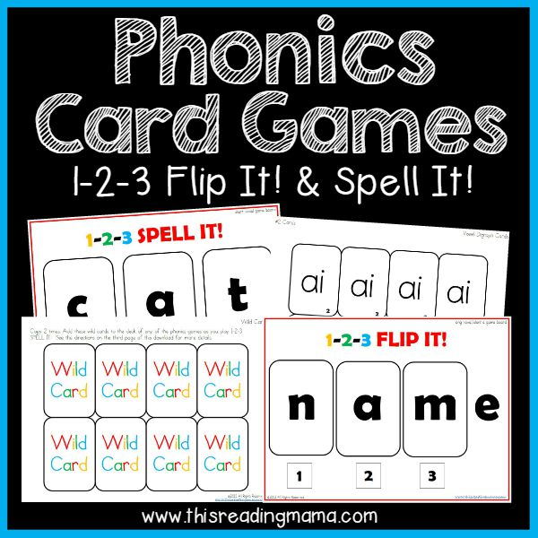 Phonics Card Game 1-2-3 Flip It Spell It - This Reading Mama