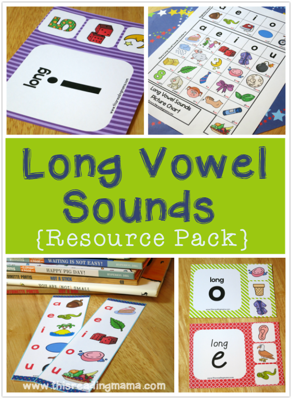 Long Vowel Sounds Resource Pack - This Reading Mama