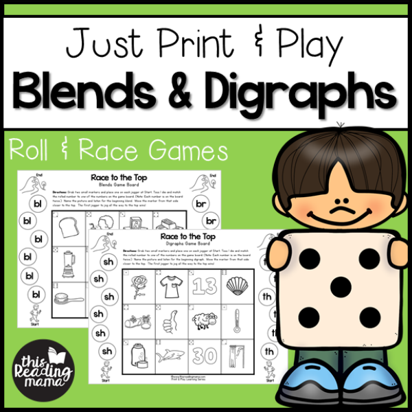 Print and Play Blends and Digraphs Games - This Reading Mama
