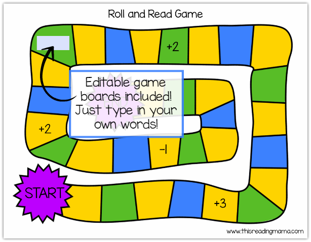 editable game boards included