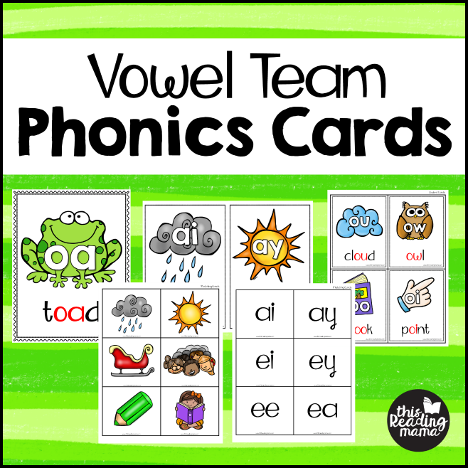 Vowel Team Phonics Cards - This Reading Mama