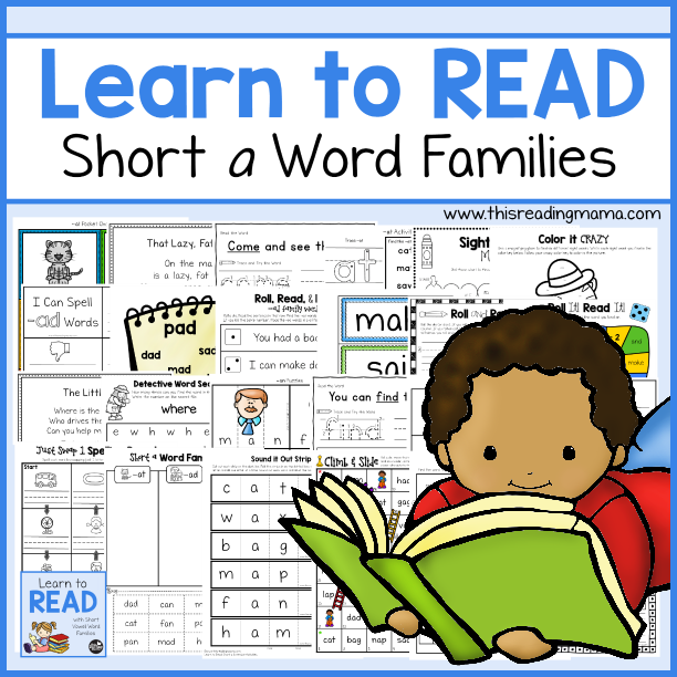 Learn to Read Short a Word Families - This Reading Mama