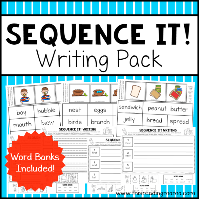 Sequence Writing Pack - Sequence It - This Reading Mama