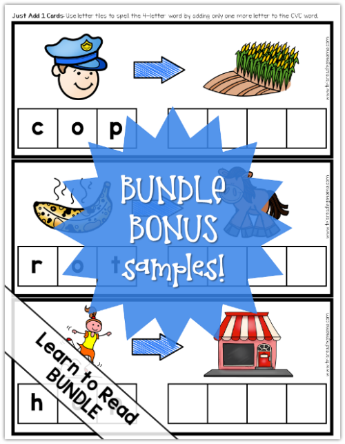 Learn to Read Bundle Pack - Bundle Bonus Samples - This Reading Mama
