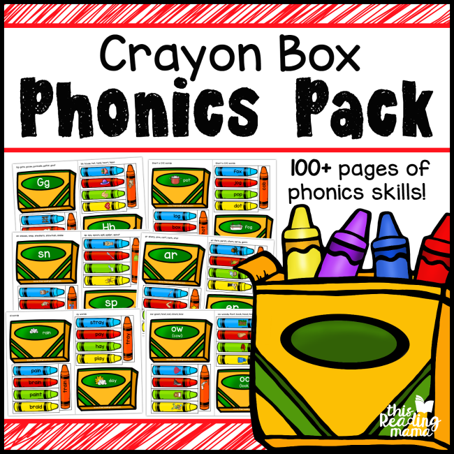 Crayon Box Phonics Pack - This Reading Mama