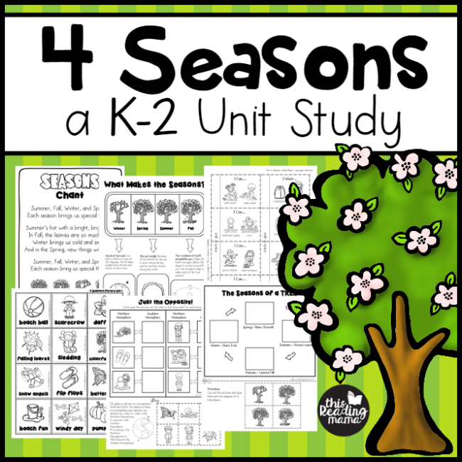 4 Seasons Unit Study for K-2 Learners - This Reading Mama
