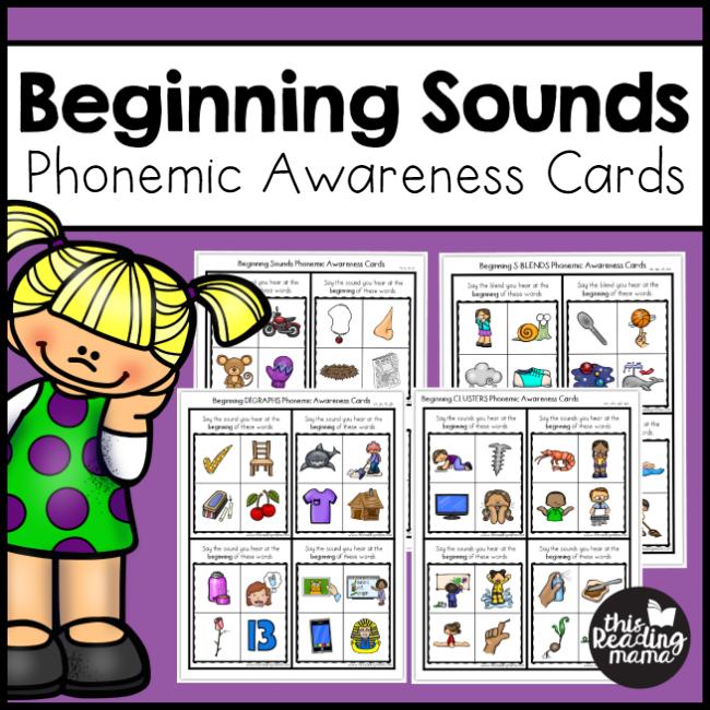 Beginning Sounds Phonemic Awareness Cards - This Reading Mama