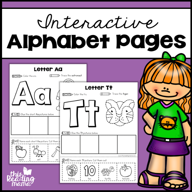 Interactive Alphabet Pages - This Reading Mama