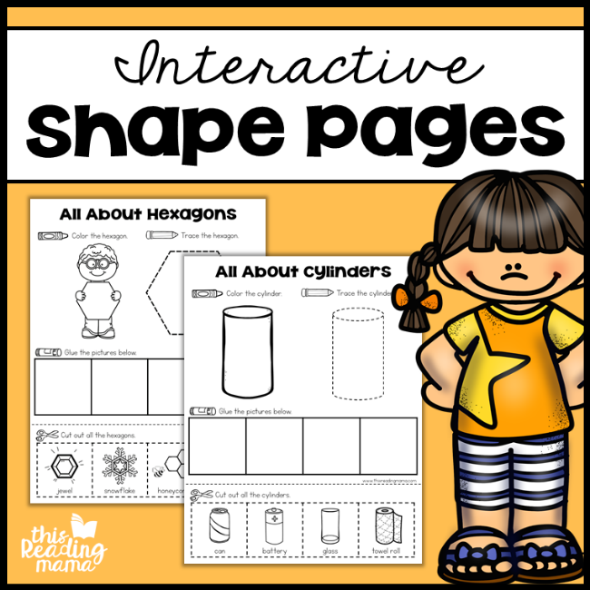 Interactive Shape Pages - This Reading Mama
