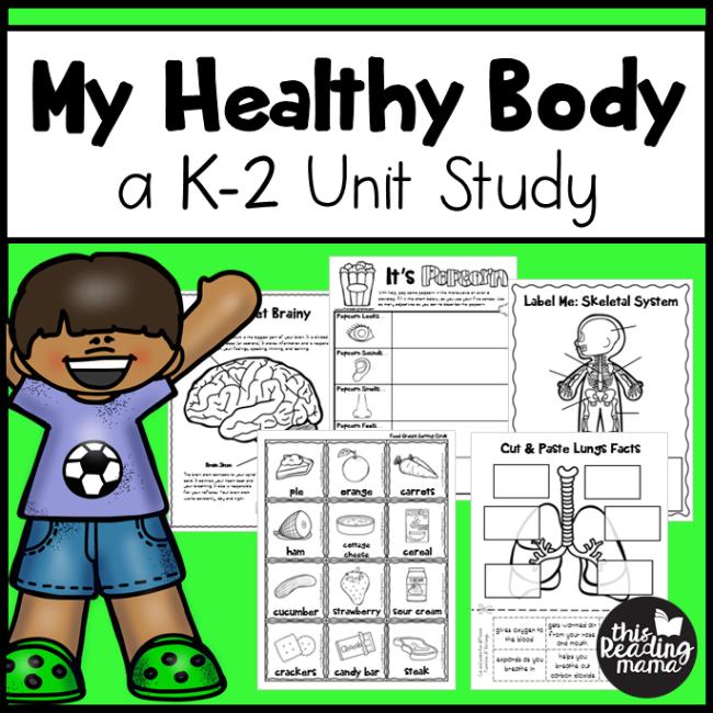 My Healthy Body K-2 Unit Study - This Reading Mama