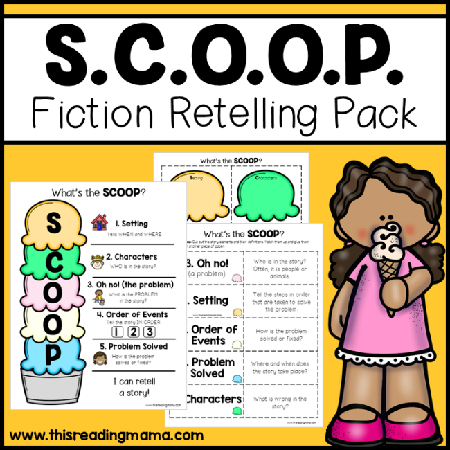 SCOOP Fiction Retelling Pack - This Reading Mama
