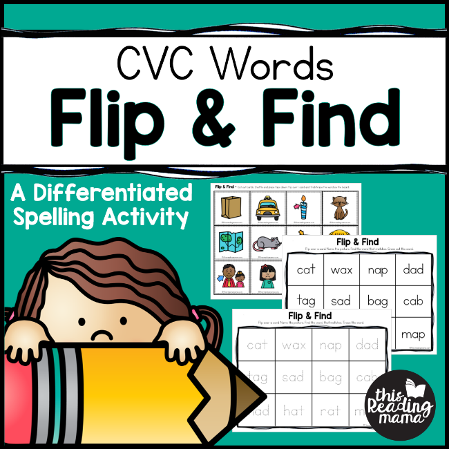 Flip and Find CVC Spelling Activity - This Reading Mama