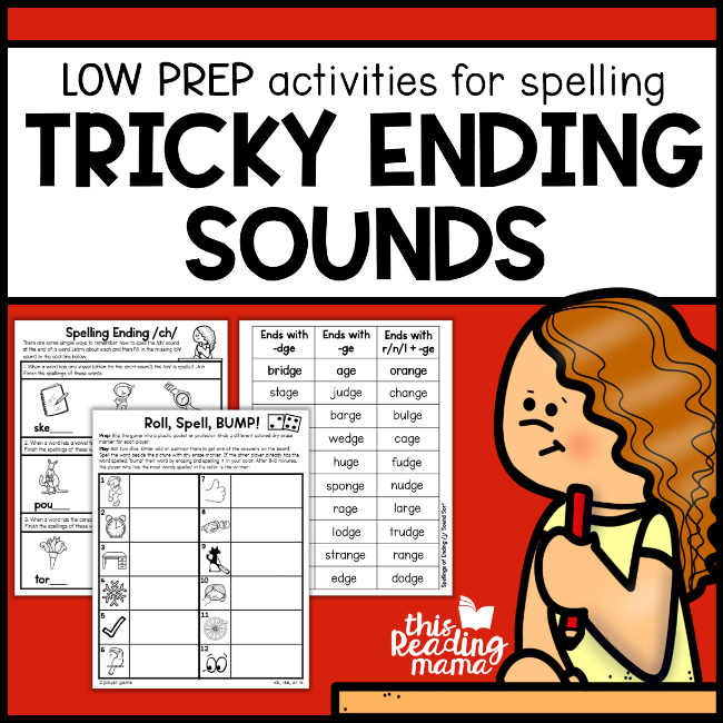 Tricky Ending Sounds Pack - This Reading Mama