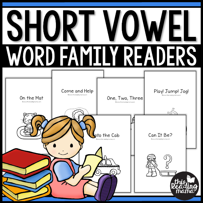 Short Vowel Word Family Readers - This Reading Mama
