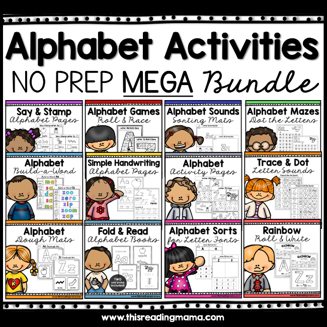 No Prep Alphabet Activities Bundle Pack - This Reading Mama
