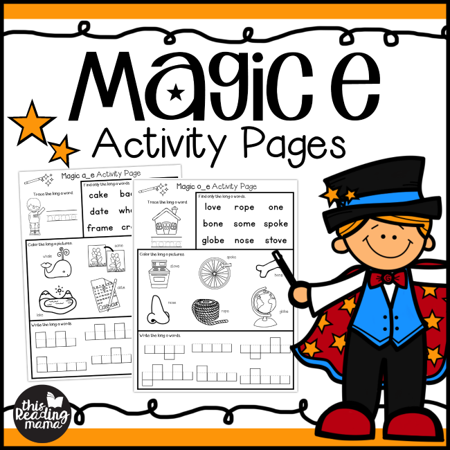 Magic e Activity Pages from This Reading Mama