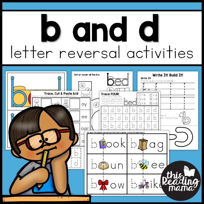 b and d Letter Reversal Activities - This Reading Mama