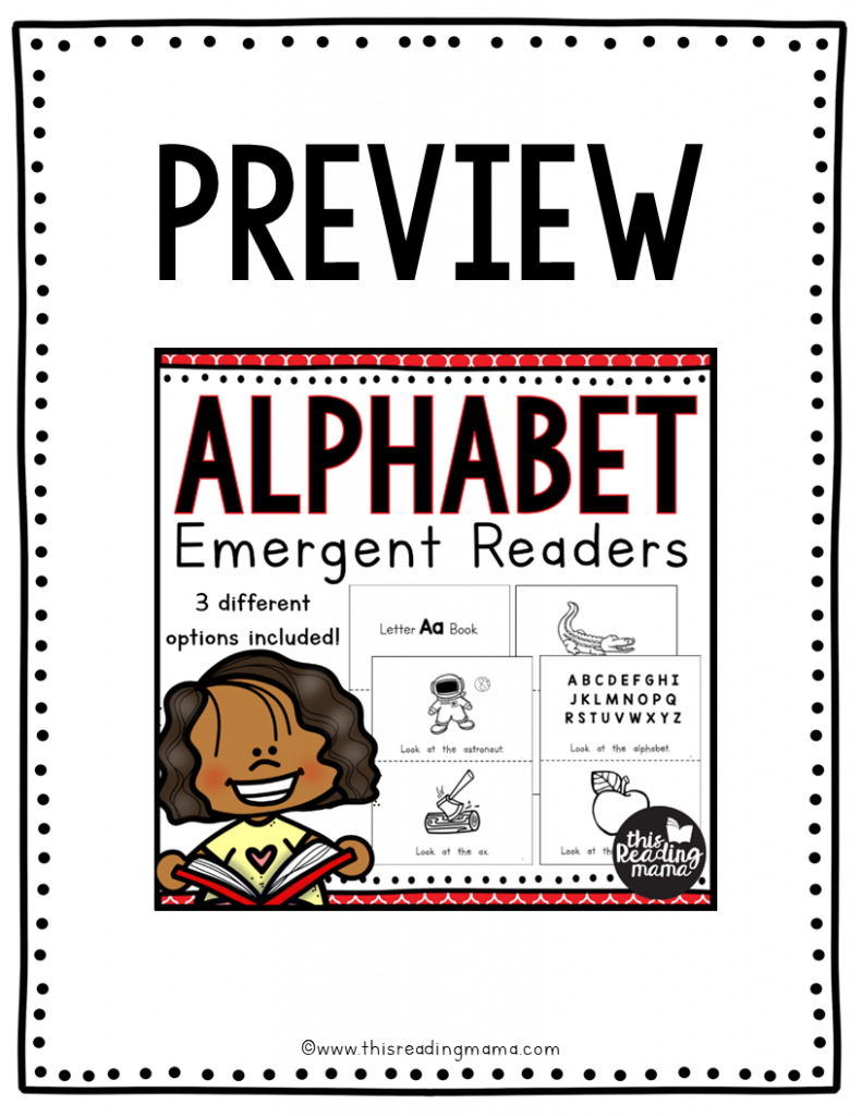 Alphabet Emergent Readers Letter Aa Preview - This Reading Mama