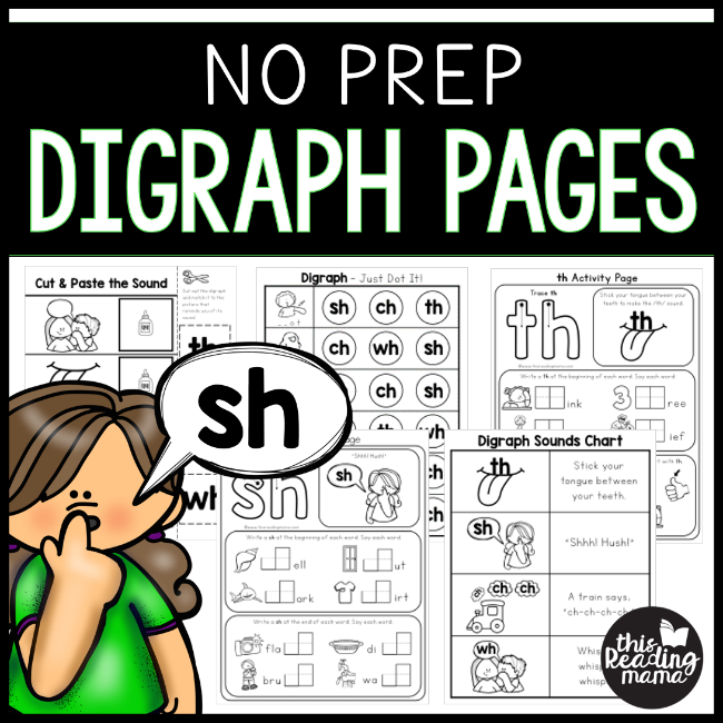 No Prep Digraph Pages for H-Digraphs - This Reading Mama