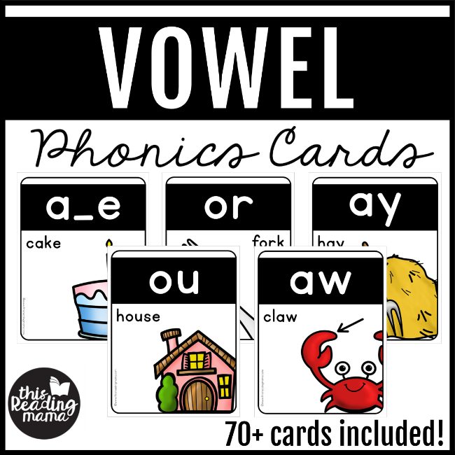 Vowel Phonics Cards - This Reading Mama