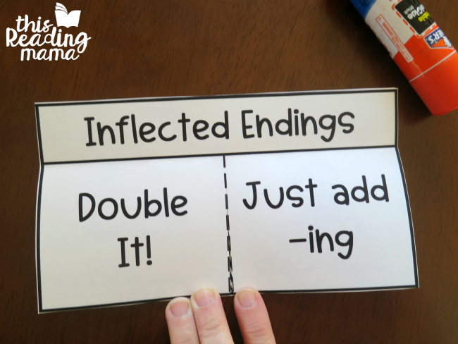 Inflected Endings Interactive Flip Book - This Reading Mama