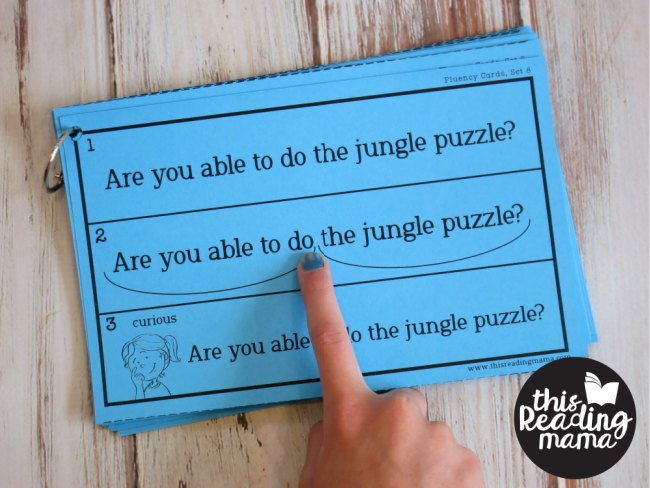 Syllable Type cards from the Reading Fluency Bundle Pack