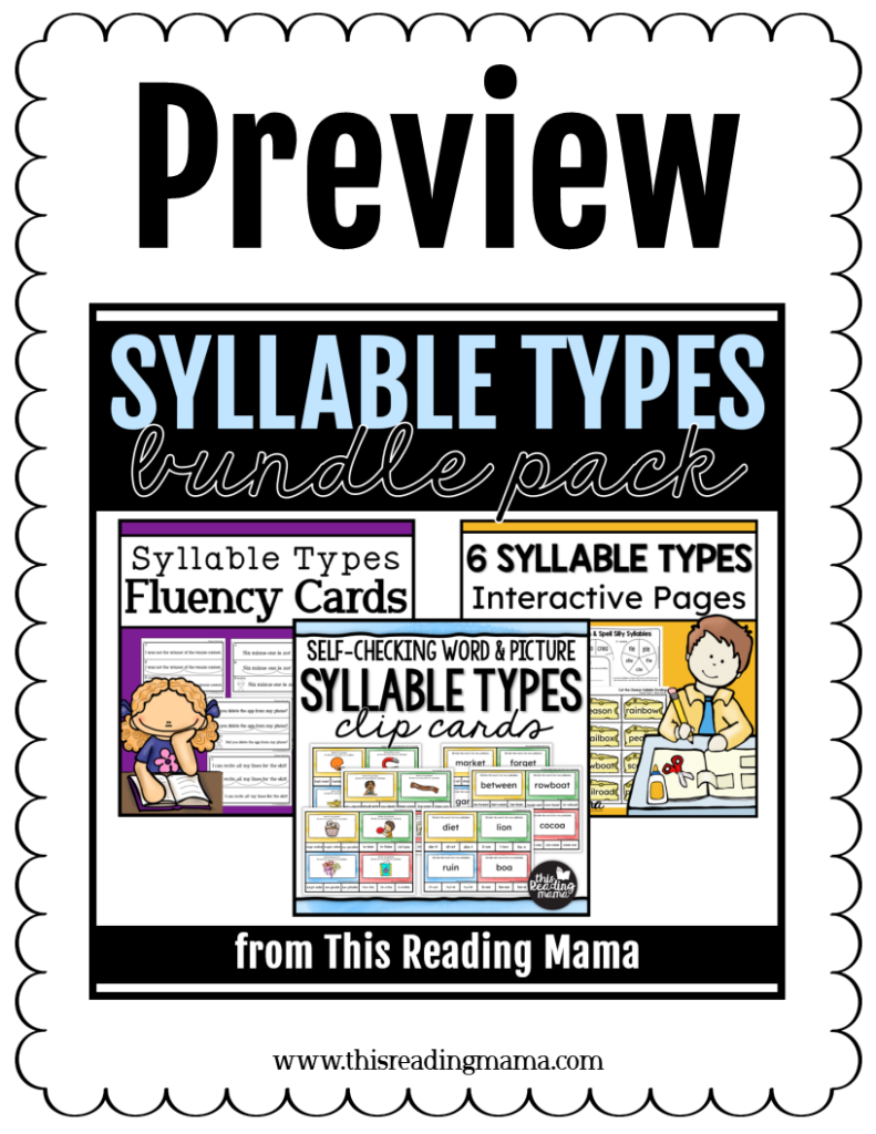 Syllable Types Bundle Pack Preview