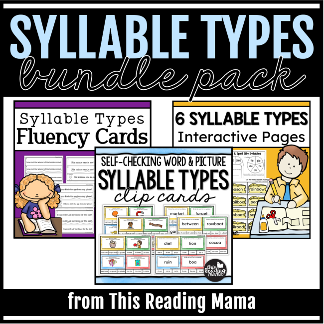 Syllable Types Bundle Pack from This Reading Mama