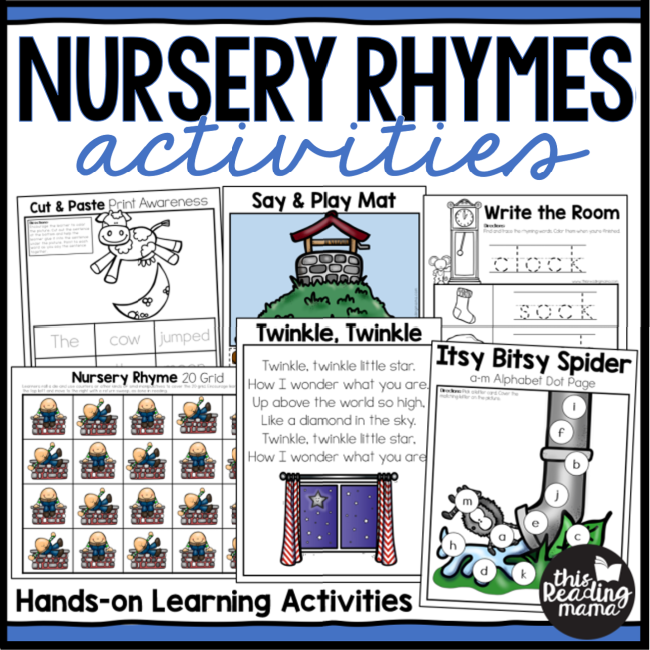 Hands-On Nursery Rhymes Activities Pack - This Reading Mama
