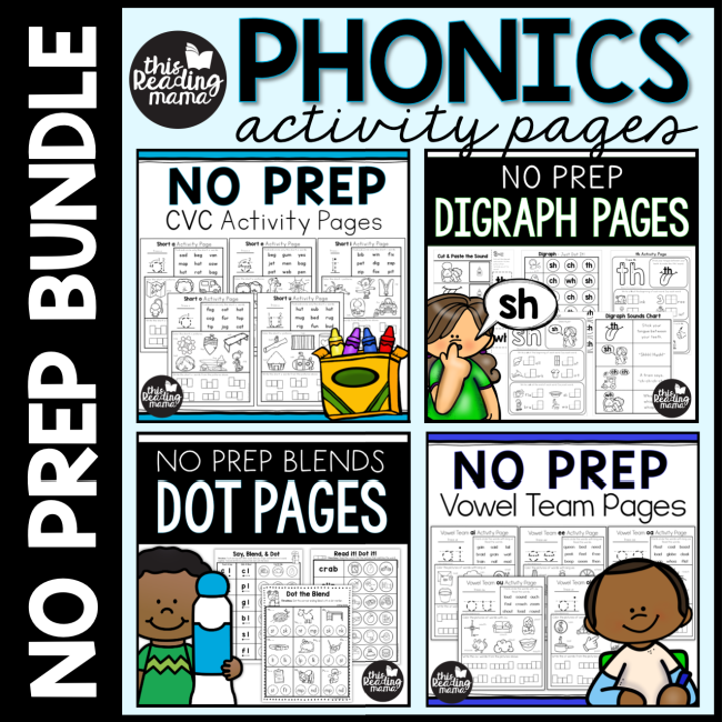 No Prep Phonics Activity Pages - This Reading Mama
