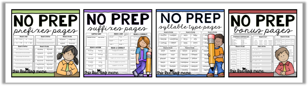 Multisyllable Words Bundle - includes these four NO PREP resources
